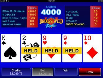 Deuces Wild Video Poker For iPhone
