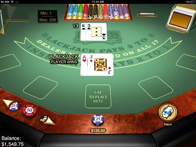 iPhone Blackjack Game