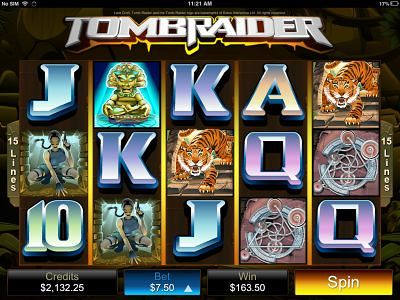 Playing Tomb Raider iPhone Slot Machine